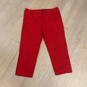 Mario Serrani red capris size 8